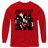 Motley Crue Group Youth Long Sleeve Classic T-Shirt Red