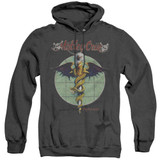 Motley Crue Dr Feelgood Adult Heather Hoodie Sweatshirt Black