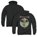 Motley Crue Dr Feelgood (Back Print) Adult Zipper Hoodie Sweatshirt Black