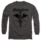 Motley Crue Dr Devil Adult Long Sleeve Classic T-Shirt Charcoal