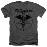 Motley Crue Dr Devil Adult Heather Classic T-Shirt Charcoal
