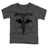 Motley Crue Dr Devil Toddler Classic T-Shirt Charcoal