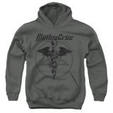 Motley Crue Dr Devil Youth Pullover Hoodie Sweatshirt Charcoal