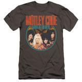 Motley Crue Crue Shout Premium Adult 30/1 Classic T-Shirt Charcoal