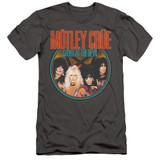 Motley Crue Crue Shout Adult 30/1 Classic T-Shirt Charcoal