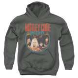 Motley Crue Crue Shout Youth Pullover Hoodie Sweatshirt Charcoal
