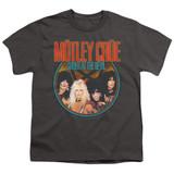 Motley Crue Crue Shout Youth Classic T-Shirt Charcoal