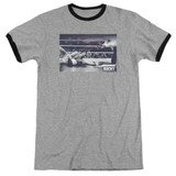 Rocky American Will Adult Ringer Classic T-Shirt Heather/Black