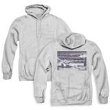 Rocky American Will (Back Print) Adult Zipper Classic Hoodie Sweatshirt Athletic Heather