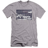Rocky American Will Premuim Canvas Adult Slim Fit 30/1 Classic T-Shirt Athletic Heather