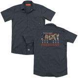 Rocky A Proven Winner (Back Print) Adult Work Shirt Charcoal
