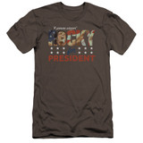 Rocky A Proven Winner Premuim Canvas Adult Slim Fit 30/1 Classic T-Shirt Charcoal