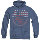Rocky Count Of Monte Fisto Adult Heather Hoodie Classic Sweatshirt Royal Blue