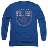Rocky Count Of Monte Fisto Adult Long Sleeve Classic T-Shirt Royal Blue