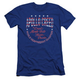 Rocky Count Of Monte Fisto Premuim Canvas Adult Slim Fit 30/1 Classic T-Shirt Royal Blue