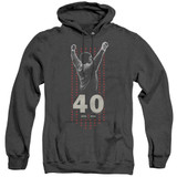 Rocky Stars Adult Heather Hoodie Classic Sweatshirt Black