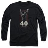 Rocky Stars Adult Long Sleeve Classic T-Shirt Black