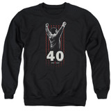 Rocky Stars Adult Crewneck Classic Sweatshirt Black