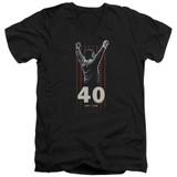 Rocky Stars Adult V-Neck Classic T-Shirt Black