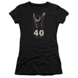 Rocky Stars Junior Women's Sheer Classic T-Shirt Black