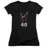 Rocky Stars Junior Women's V-Neck Classic T-Shirt Black