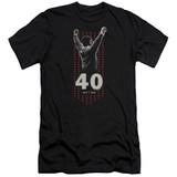 Rocky Stars Premuim Canvas Adult Slim Fit 30/1 Classic T-Shirt Black