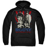 Rocky Going The Distance Adult Pullover Hoodie Classic Sweatshirt Black