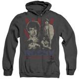 Rocky Going The Distance Adult Heather Hoodie Classic Sweatshirt Black