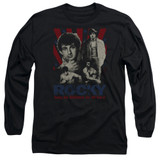Rocky Going The Distance Adult Long Sleeve Classic T-Shirt Black