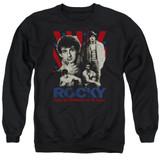 Rocky Going The Distance Adult Crewneck Classic Sweatshirt Black