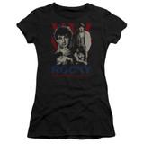 Rocky Going The Distance Junior Women's Sheer Classic T-Shirt Black