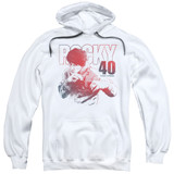 Rocky 40 Years Strong Adult Pullover Hoodie Classic Sweatshirt White