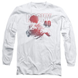 Rocky 40 Years Strong Adult Long Sleeve Classic T-Shirt White
