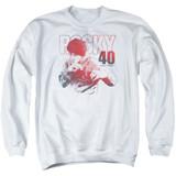 Rocky 40 Years Strong Adult Crewneck Classic Sweatshirt White