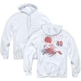 Rocky 40 Years Strong (Back Print) Adult Zipper Hoodie Classic Sweatshirt White