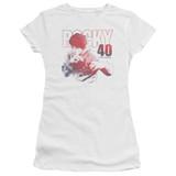 Rocky 40 Years Strong Junior Women's Sheer Classic T-Shirt White