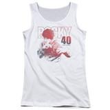 Rocky 40 Years Strong Junior Women's Tank Top Classic T-Shirt White
