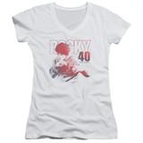 Rocky 40 Years Strong Junior Women's V-Neck Classic T-Shirt White