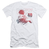 Rocky 40 Years Strong Adult 30/1 Classic T-Shirt White