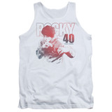 Rocky 40 Years Strong Adult Tank Top Classic T-Shirt White