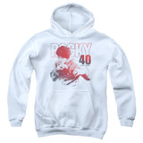 Rocky 40 Years Strong Youth Pullover Hoodie Classic Sweatshirt White