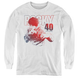 Rocky 40 Years Strong Youth Long Sleeve Classic T-Shirt White
