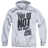 Fight Club Rule 1 Adult Pullover Classic Hoodie Sweatshirt Athletic Heather