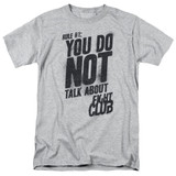 Fight Club Rule 1 Adult 18/1 Classic T-Shirt Athletic Heather