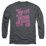 Fight Club Life Ending Adult Long Sleeve Classic T-Shirt Charcoal