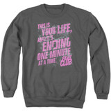 Fight Club Life Ending Adult Crewneck Classic Sweatshirt Charcoal