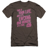Fight Club Life Ending Premuim Canvas Adult Slim Fit Classic T-Shirt Charcoal