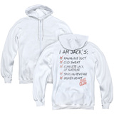 Fight Club Jacks (Back Print) Adult Zipper Classic Hoodie Sweatshirt White