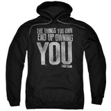 Fight Club Owning You Adult Pullover Classic Hoodie Sweatshirt Black
