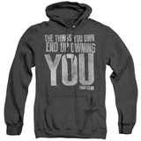 Fight Club Owning You Adult Heather Classic Hoodie Sweatshirt Black